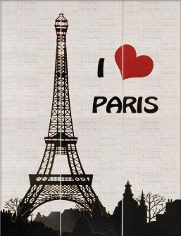 I Love Paris 885x1190 D6/G